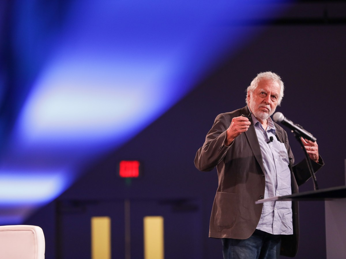Founder of Atari Nolan Bushnell gives the talk titled 'The Birth of Video Games and Silicon Valley, Stories and Wisdom from the Founder of Atari.' at Rackspace.