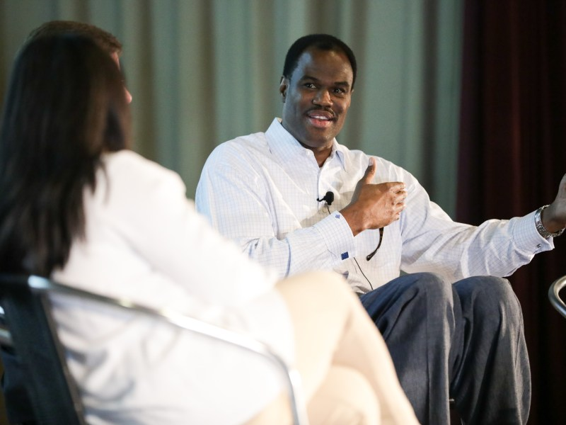 Hall of Fame NBA Center and former San Antonio Spur David Robinson.