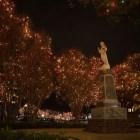University of the Incarnate Word is lit up for the holidays.