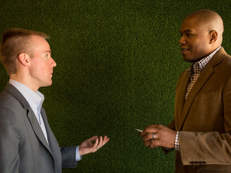 (From left) Bunker Labs San Antonio Community Managers Michael Pleasant and Curtez Riggs