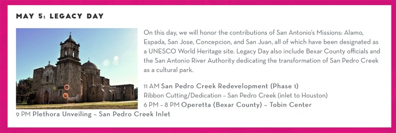 Legacy Day during Commemorative Week as listed by the San Antonio Tricentennial website.