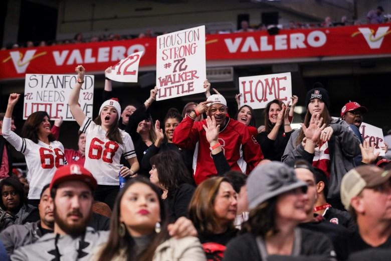 Stanford fans celebrate during the Valero Alamo Bowl.