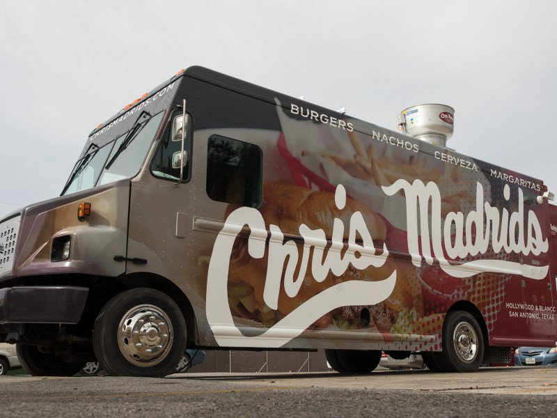 The Chris Madrid's food truck will be opening soon as the restaurant continues to rebuild after a fire in October.