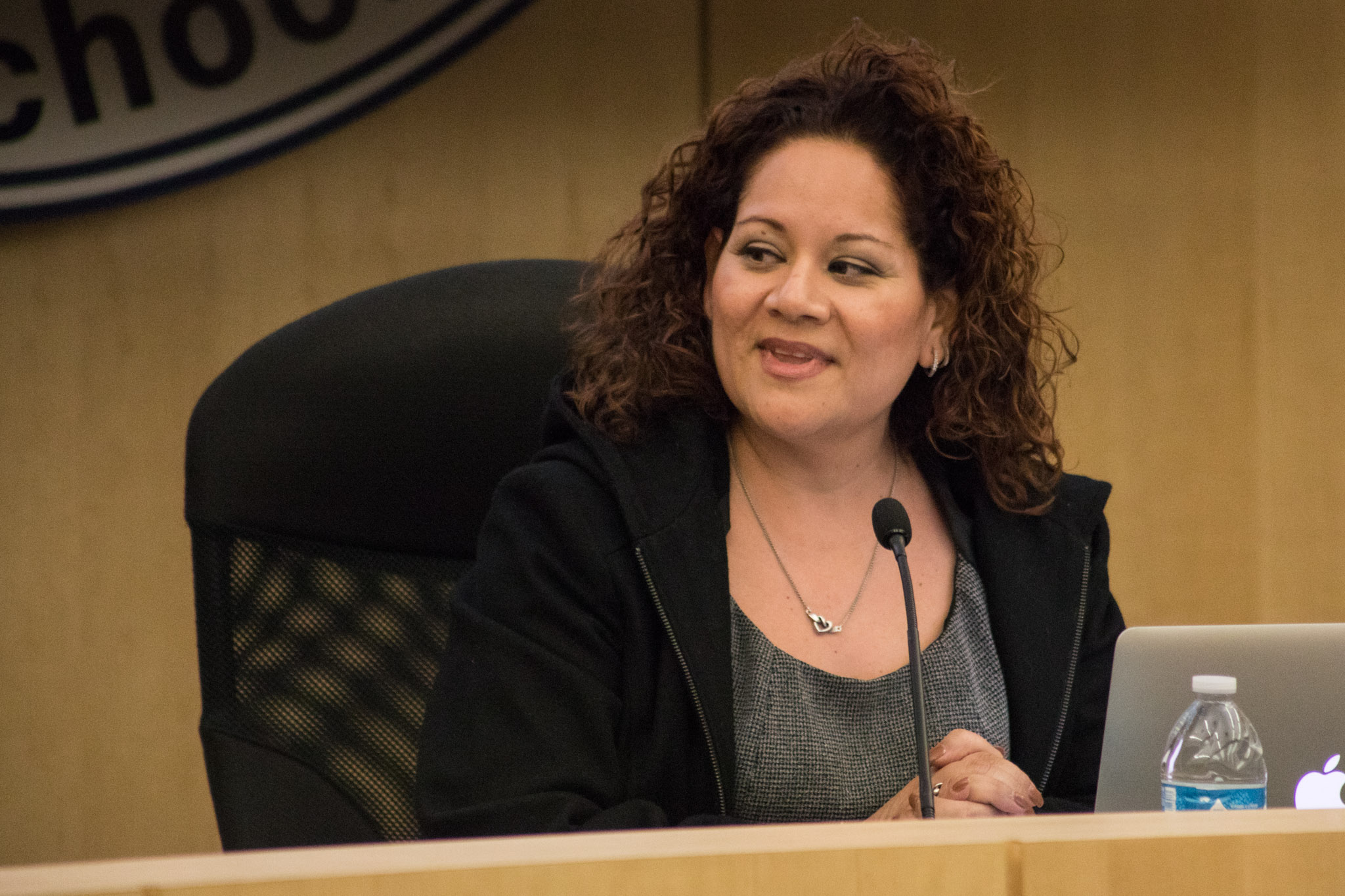 South San Antonio Independent School District board President Angelina Osteguin