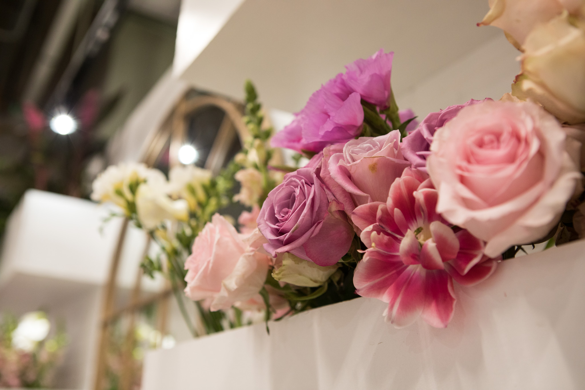 Flowers line the walls of The Vintage Bouquet Bar.