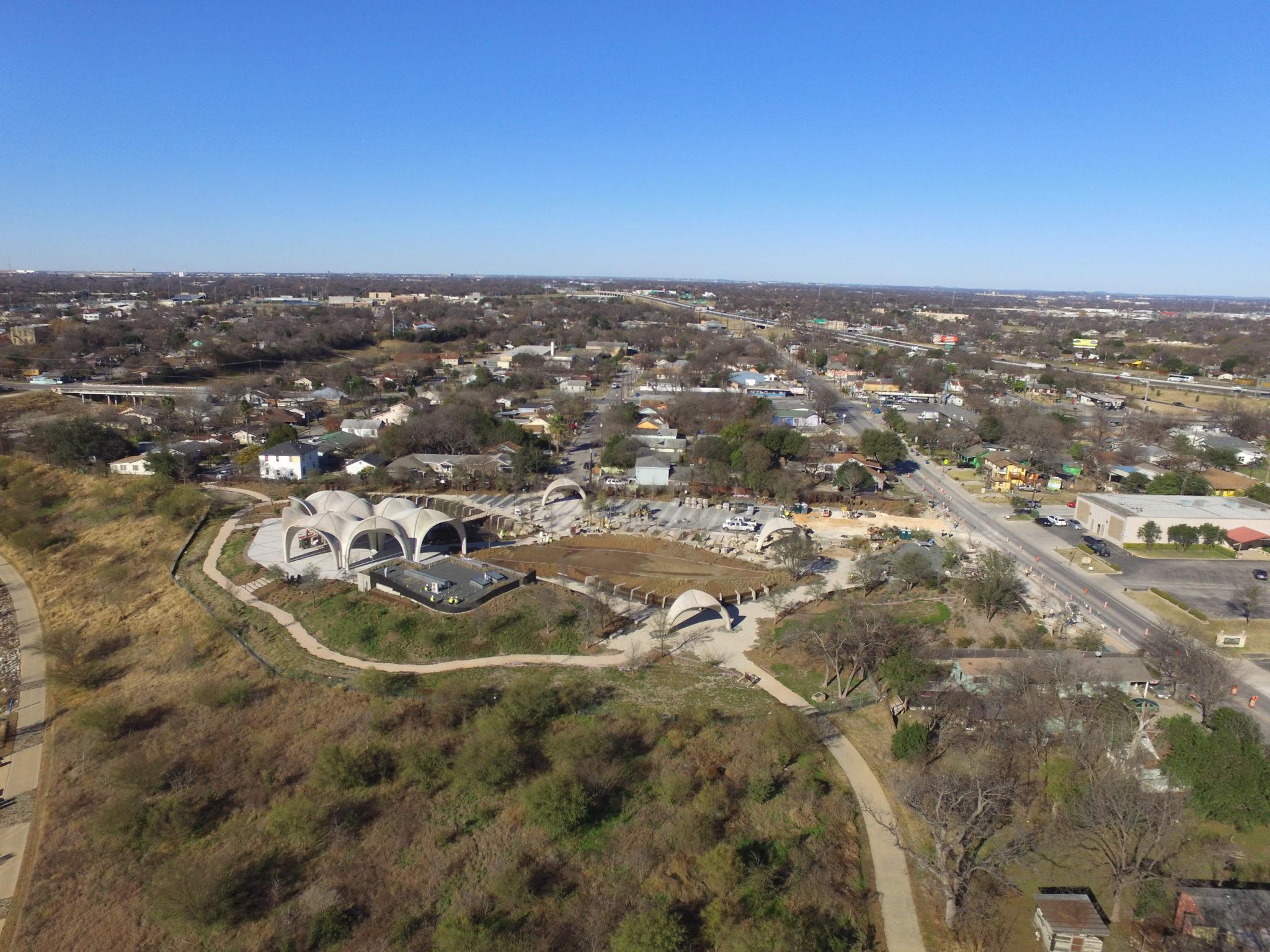 Confluence Park aerial view