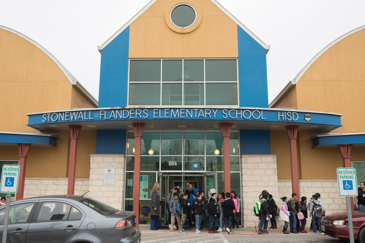 Students head home from Stonewall Flanders Elementary School at Harlendale Independent School District.