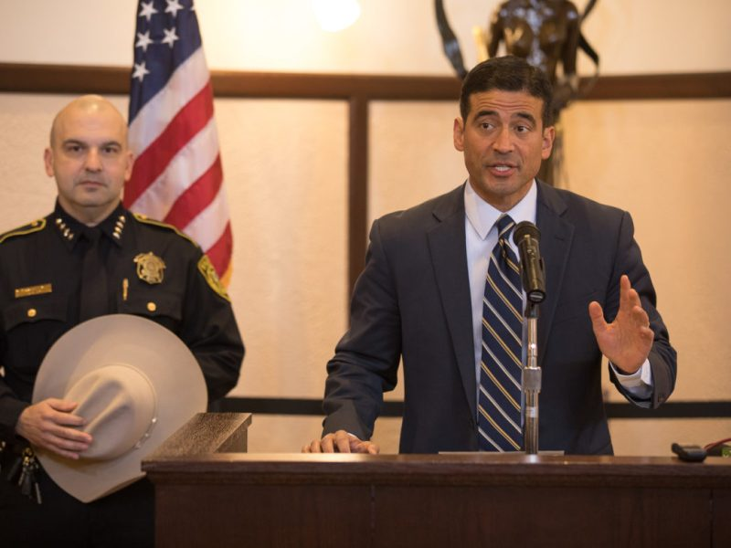 District Attorney Nico LaHood announces the continuation of the cite and release pilot program for local law enforcement.