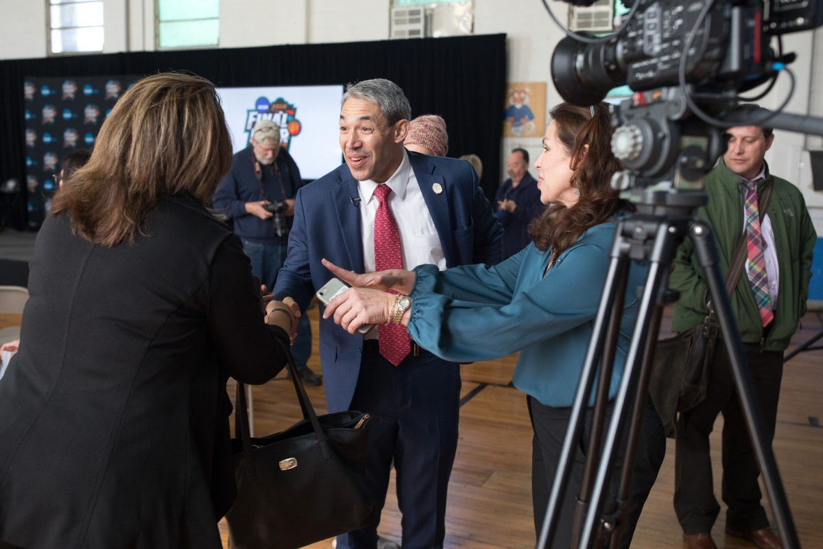 Mayor Ron Nirenberg during an announcement of the 2018 Final Four to be played in San Antonio.