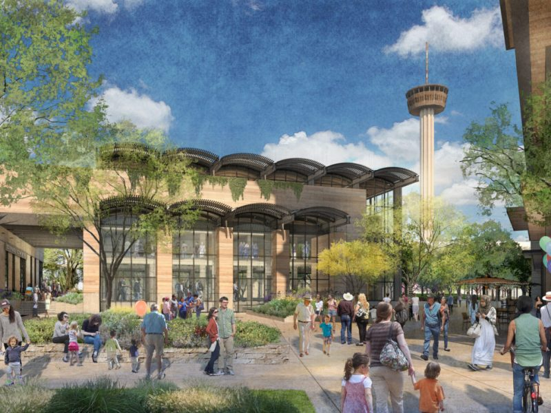 "Plans for Zachry Hospitality's development at Hemisfair include an ""urban market."""