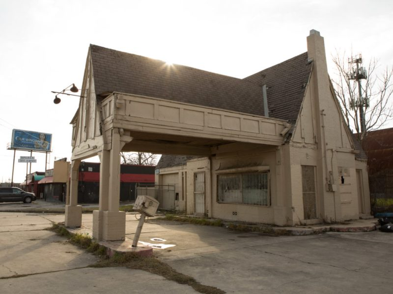 The vacant building at 901 Nogalitos St. is the only Pure Oil gas station left in San Antonio.