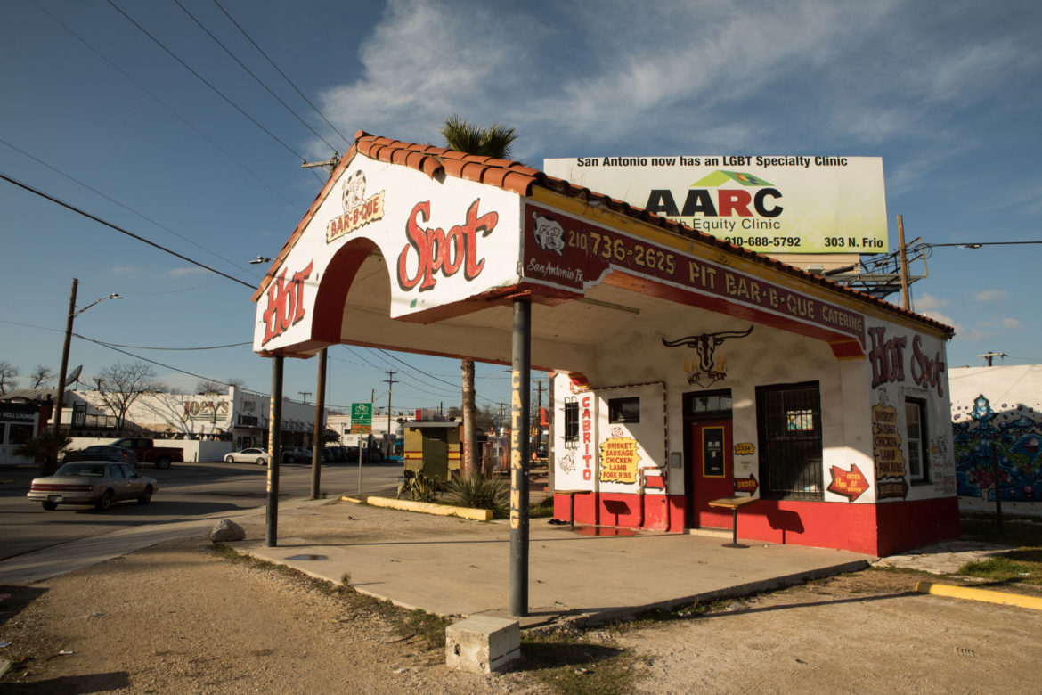 Hot Spot, located at 2334 N. St. Mary's St., was once a gas station.