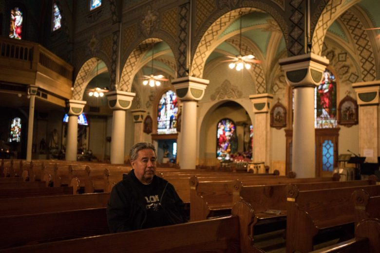 Domingo Gutierrez visits the Immaculate Heart of Mary Catholic Church regularly for prayer.