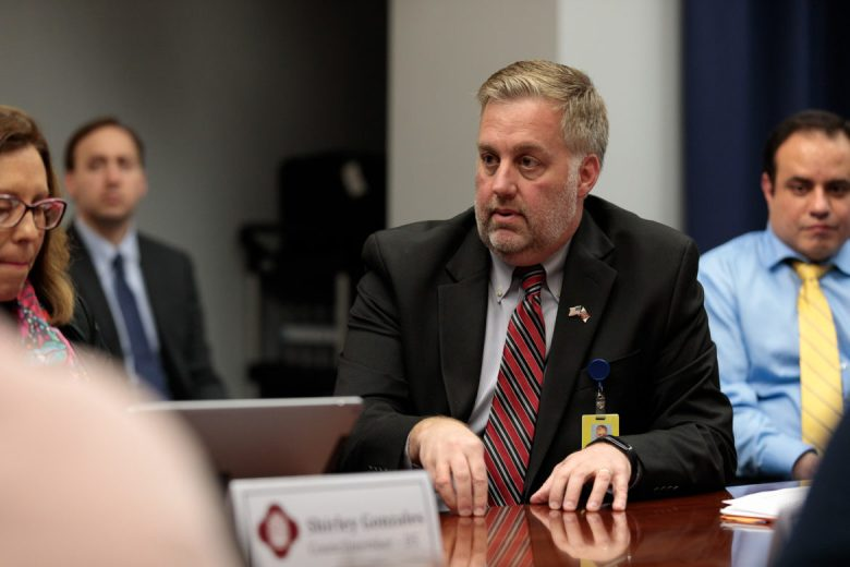 City of San Antonio Chief Information Officer Craig Hopkins gives his input during a San Antonio Innovation and Technology Committee meeting in February 2018.