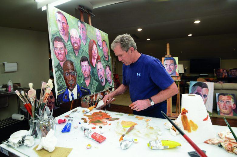 President George W. Bush painting.