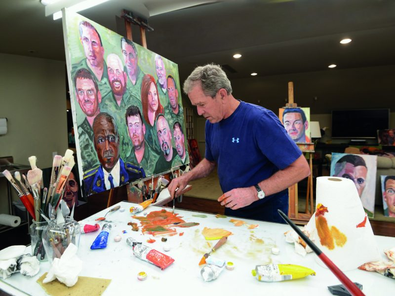 President George W. Bush painting.