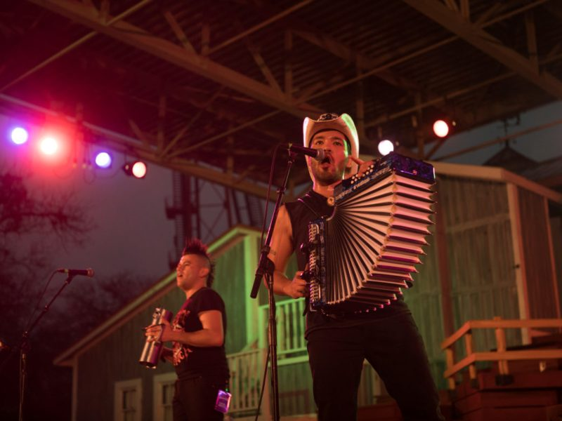 Piñata Protest performs at Botánica Music Festival.