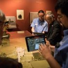 Interactive tablets are used at the Confluence and Culture: 300 Years of San Antonio History exhibit at the Witte Museum.