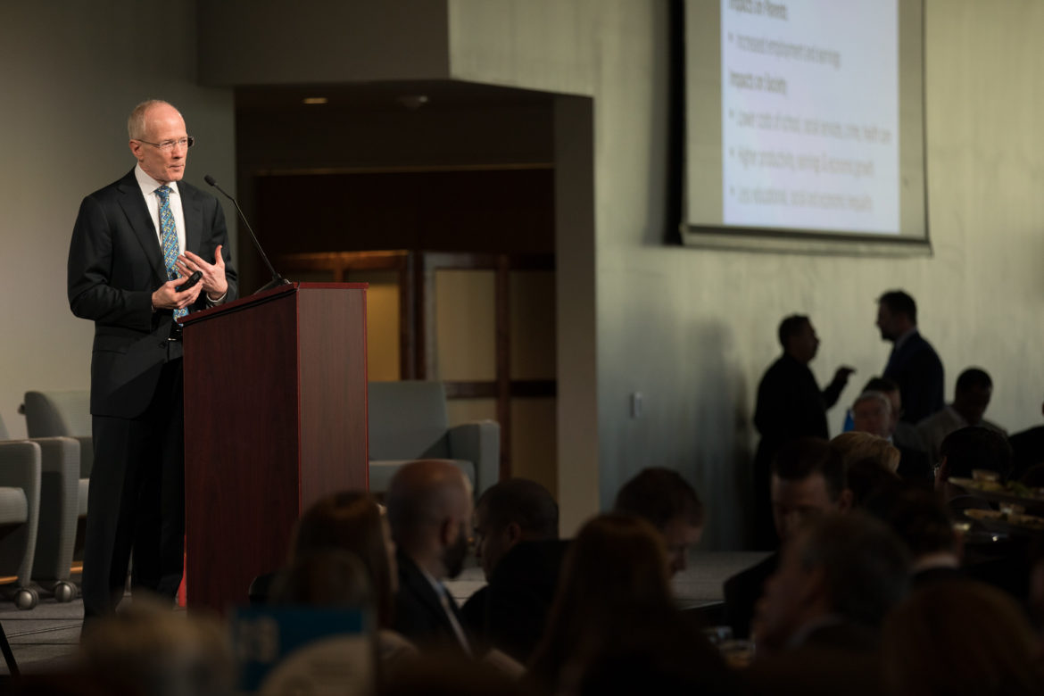 Founder / Director of the National Institute for Early Education Research at Rutgers University Steven Barnett gives the keynote address.