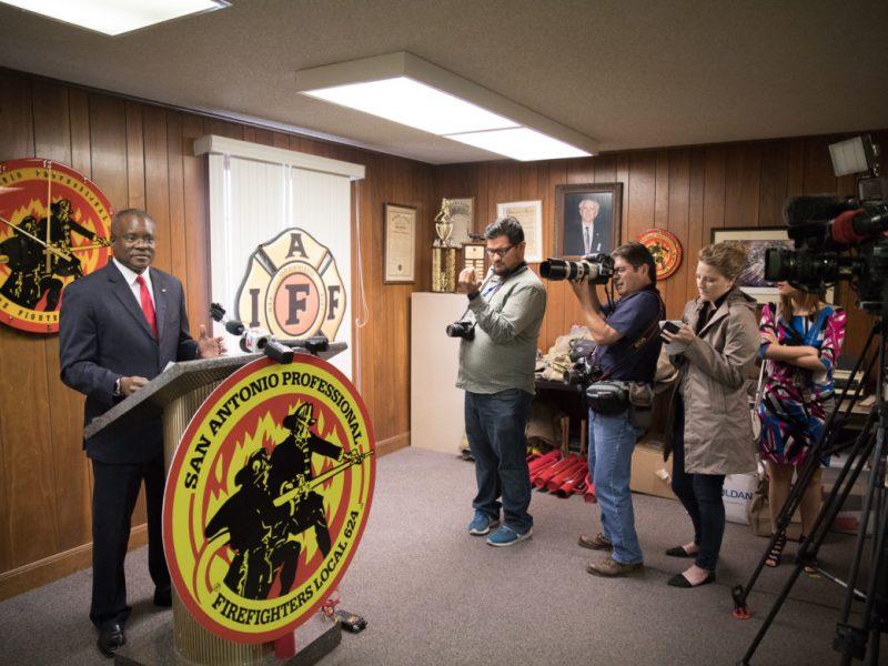 San Antonio Professional Fire Fighters Association President Chris Steele.