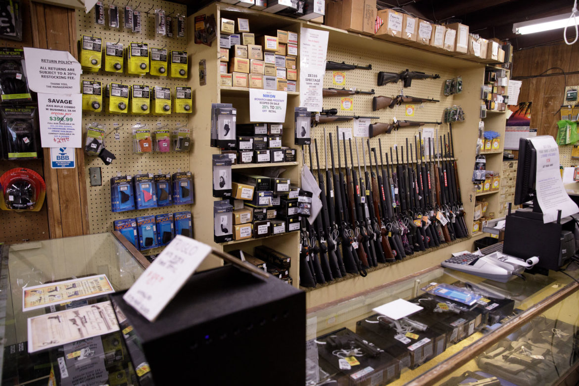 The majority of Nagel's Gun Shop consists of hunting styled rifles and shotguns along with a large selection of knives.
