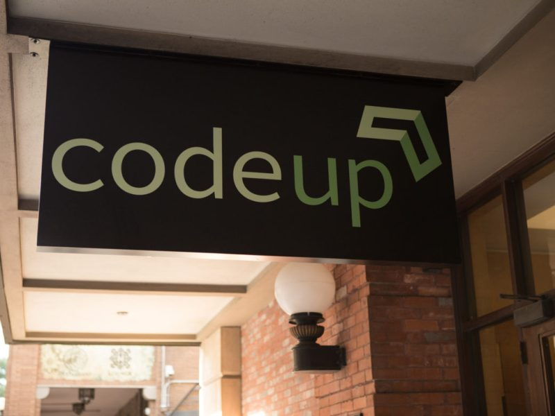 The Vogue Building, where Codeup resides, was one of four major stops along the Tech Trek.
