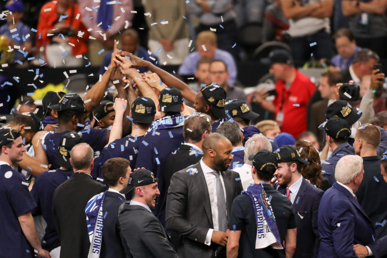 Villanova celebrates their second championship in three years.