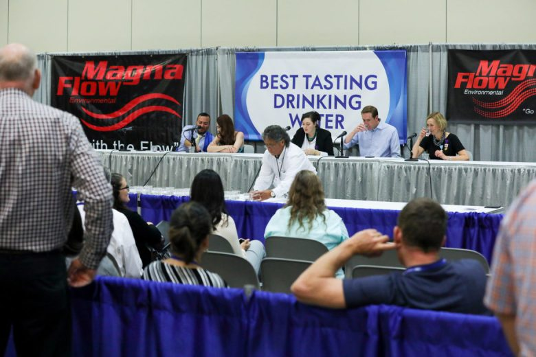 Judges test samples of municipal drinking water from across Texas.