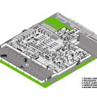 This rendering shows the future layout of Bexar County's Justice Intake Center.