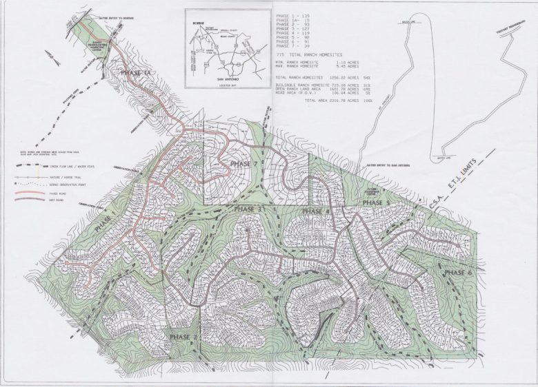 An August 2005 plan shows that the General Land Office once intended for Rancho Sierra to be developed into a subdivision with 715 homes.
