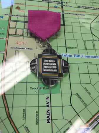 Councilman Roberto Treviño (D1) designed the Fiesta medals sold to raise funds for a pride crosswalk in San Antonio's LGBTQ strip.