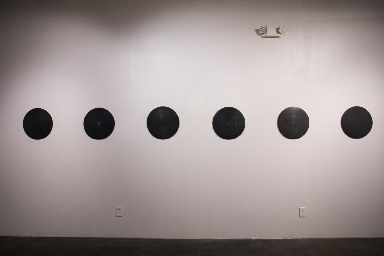 Ethan Gonzalez's work Black Figure #1 is comprised of Terra Sigillata on Terra Cotta.
