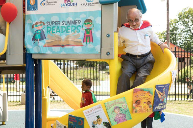 Harvey Najim illustrates a literal version of the summer slide.Harvey Najim illustrates a literal version of the summer slide.
