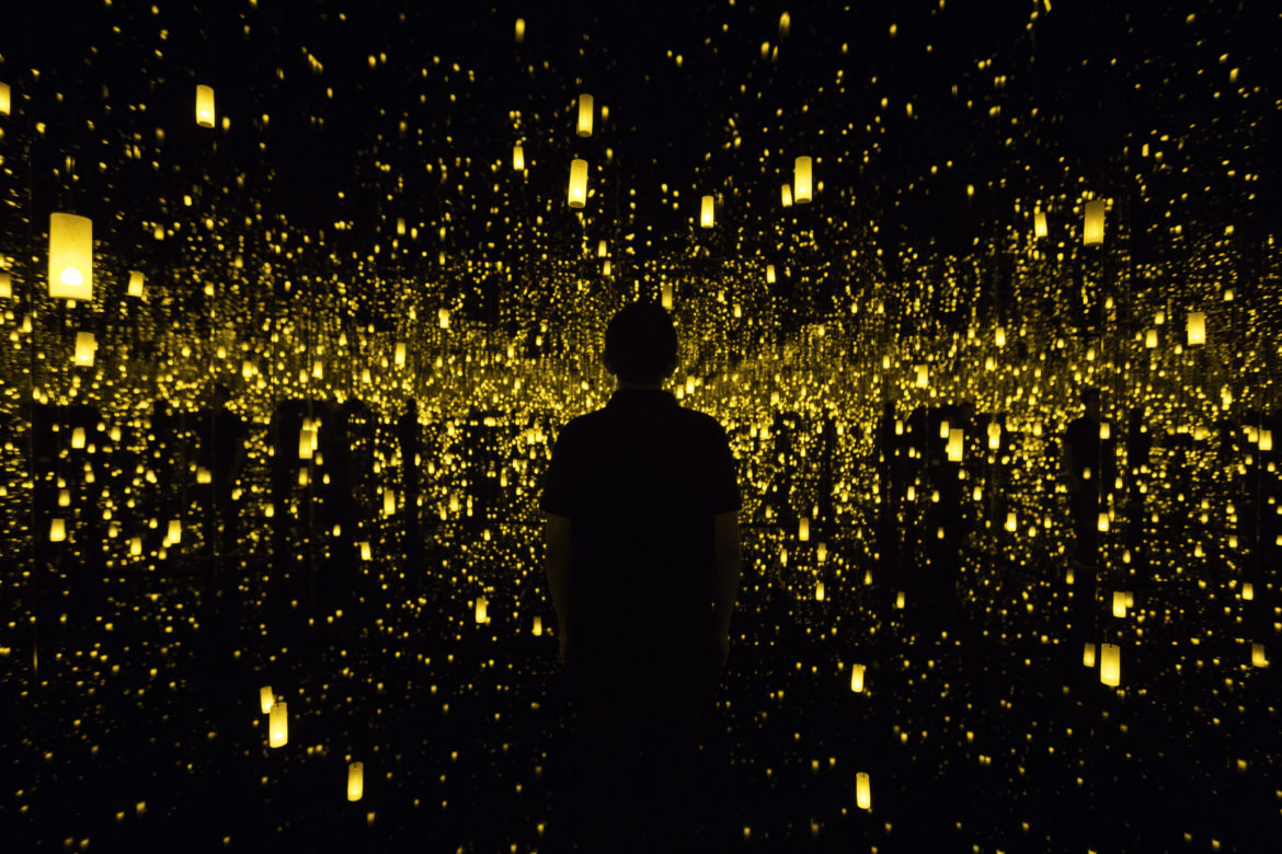 The art installation Aftermath of Obliteration of Eternity by Yayoi Kusama.