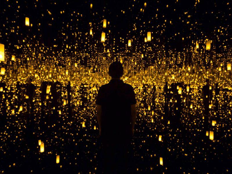 The art installation Aftermath of Obliteration of Eternity by Yayoi Kusama.