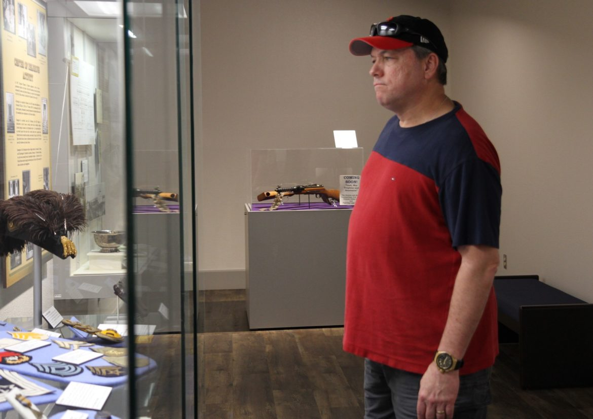 Michael Henderson, a resident of San Antonio, looks at one of the displays inside the Fort Sam Houston Museum, which was one of the stops during the hourly historic tours as part of Military Appreciation Weekend at Fort Sam Houston.