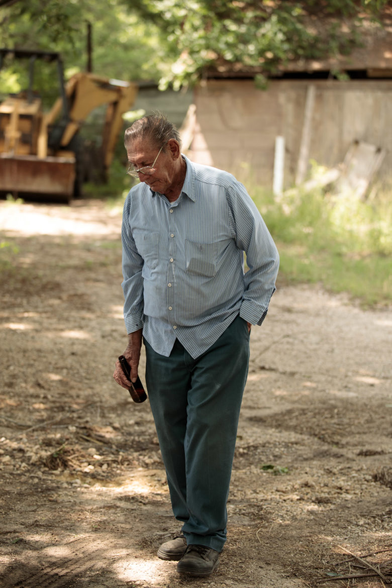 Arthur Maspero now a retired striper spends his days on his family land nearby Mission Espada.
