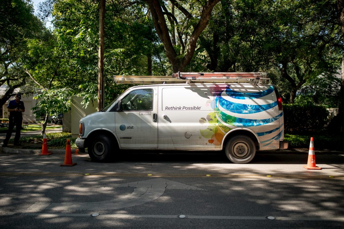 AT&T is using it's existing infrastructure to provide fiber internet to customers across San Antonio.