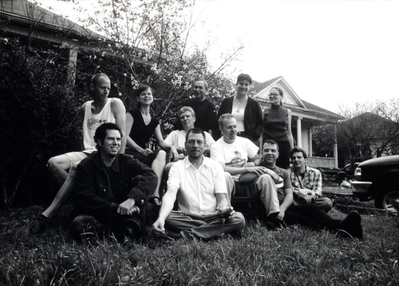 Chuck Ramirez and residents of The Compound in 2004.
