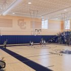 This rendering shows the gym of Central Catholic High School's proposed Convocation Center.