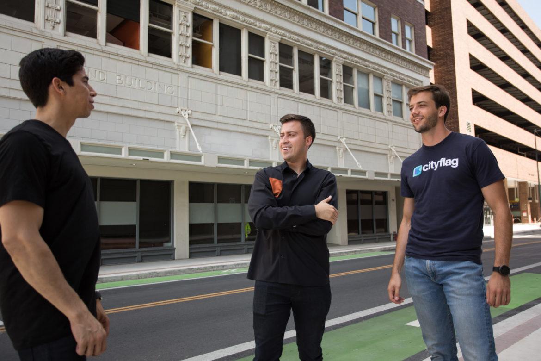 "(From left) Cityflag founders Alberto Gomez, COO; Alberto ""Beto"" Altamirano, CEO; and Eduardo Bravo, CFO."