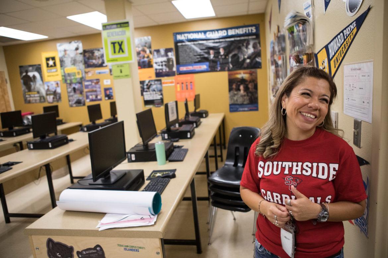 Minnie Rodriguez, Southside High School Go Center technician.