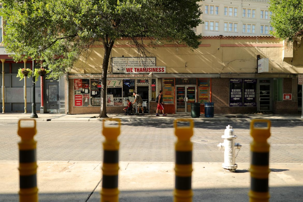 A convenience store along East Commerce Street will be shuttered and razed.