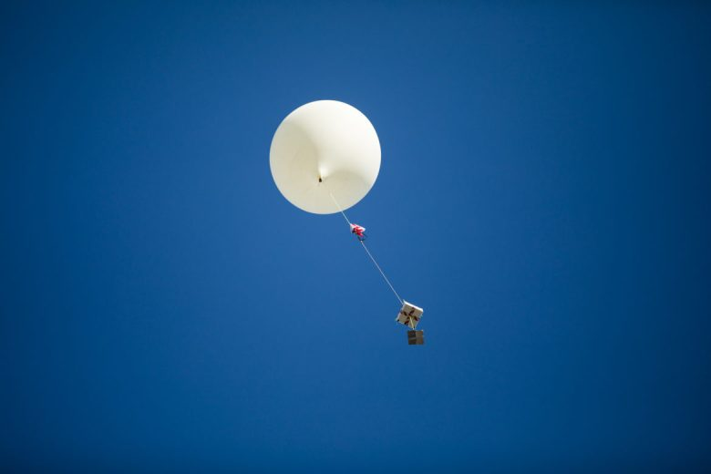 The balloon and it's payload are released into the atmosphere.
