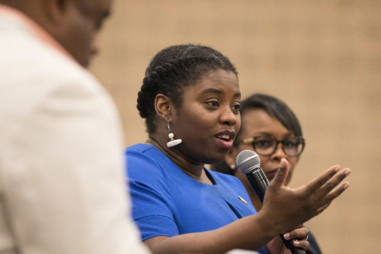L. Joy Williams, NAACP Brooklyn Branch President, responds to a question regarding how to get people to vote.