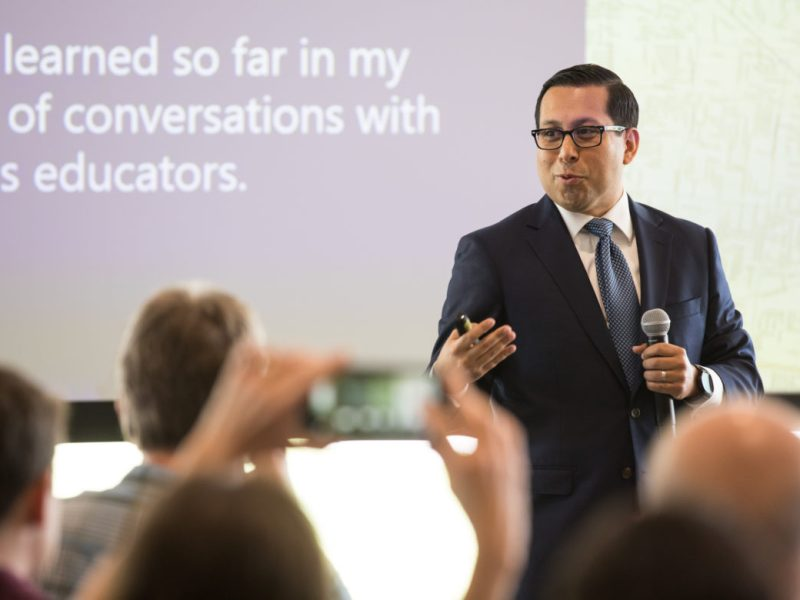 State Rep. Diego Bernal (D-123) discusses what he has learned so far after visitng all public, private, and charger schools in District 123.
