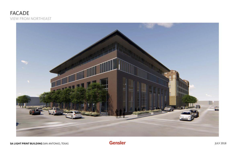 The San Antonio Light Print Building.
