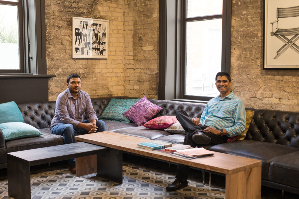 Filestack Vice President of Product Sundip Patel and CEO Sameer Kamat