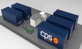 A CPS Energy rendering of the battery storage units to be installed on Southwest Research Institute property.