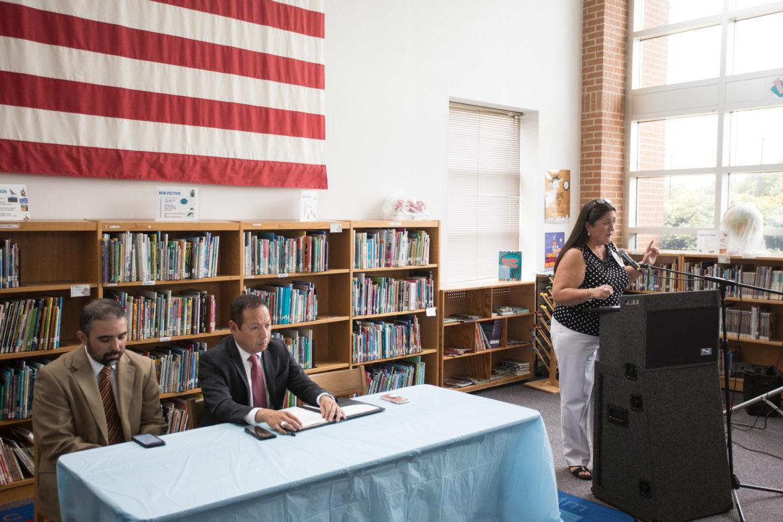 (From left) Miguel Elizondo, Burbank High School principal; Moises Ortiz, Rhodes Middle School principal; and Lianna Cano, Madison Elementary School principal.